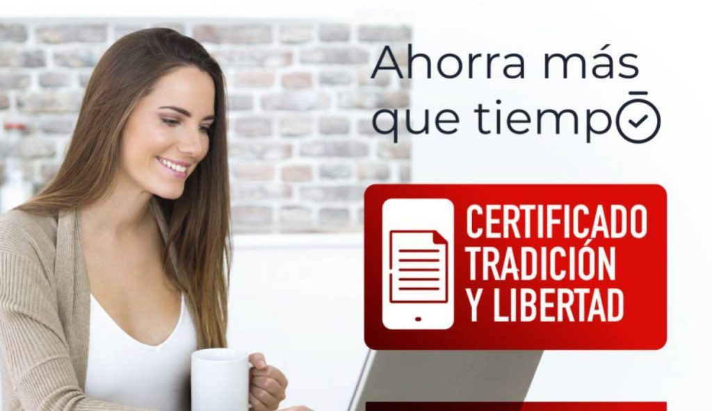 certificado de tradicion y libertad