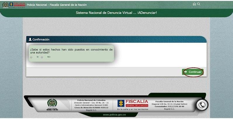 Screenshot 13 - Denunciar por Internet