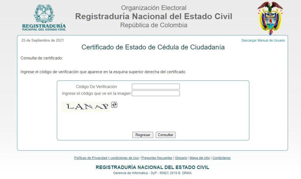 consultar certificado cedula